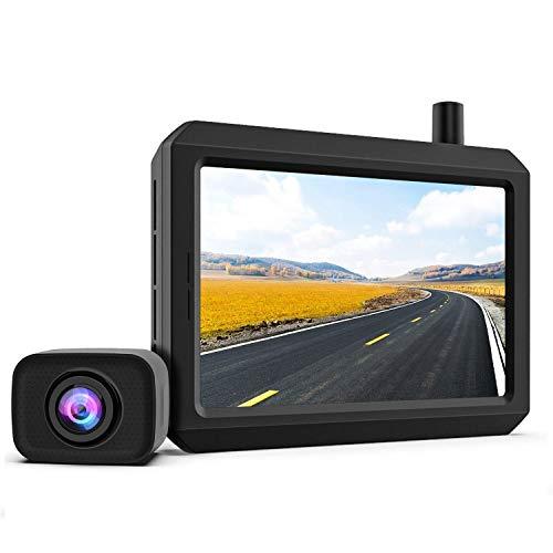 K7PRO Caméra de recul sans Fil, 2 caméras, Digital Signal, 5 Pouces, Supporter Double caméra, Caméra étanche IP68, Super Vision Nocturne