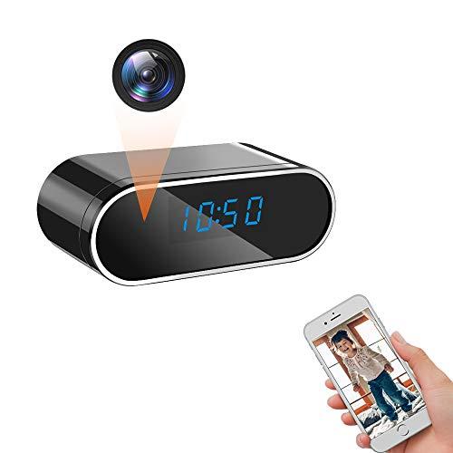 LXMIMI Telecamera Nascosta WiFi, 1080P HD Orologio Telecamera Nascosta, Automatico Visione Notturna & Rilevamento del Movimento Telecamera Spia WiFi