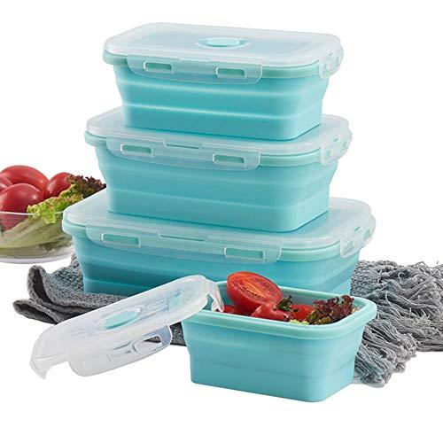 Schneespitze 3 Pcs Boite Alimentaire Pliable,Boîte à Lunch,Pliables en...