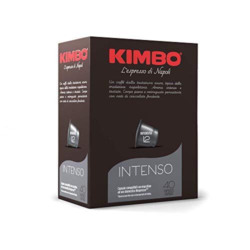 Kimbo Capsule di Caffè Intenso, Compatibile con Nespresso, 4 Pacchi da 40 Capsule (Totale 160 Capsule)