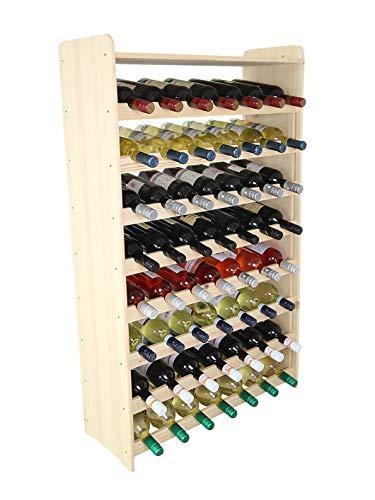 Modo 24.de RW-3-56 - Scaffalatura in legno per bottiglie di vino, capacit 56 bottiglie
