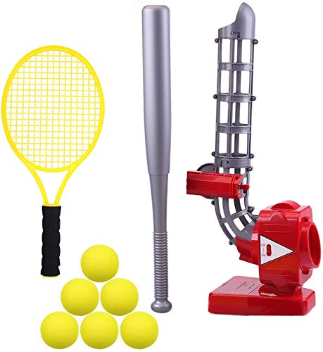 KIDDIVILLA iPlay, iLearn Ball Pitching Game Machines, Baseball, Tennis, Training, Learning, Early Development, Active Toys Outdoors Sports Gaming for 3 to 7 Year Olds Kids,, Red