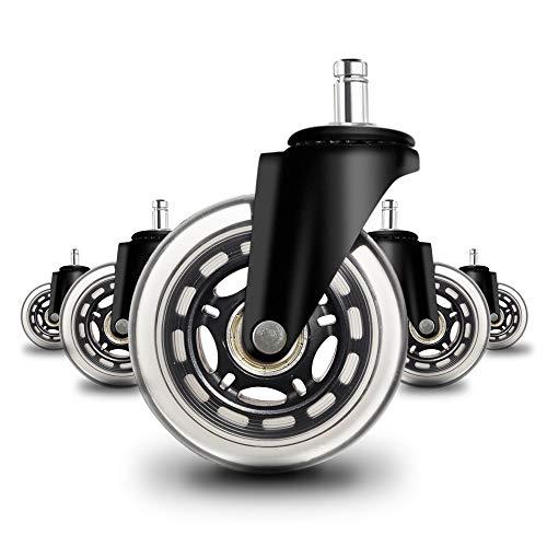 Anyke Ruote Girevoli per Sedia di Ufficio rotelle di Ricambio per Proteggere Pavimenti in Legno Duro...