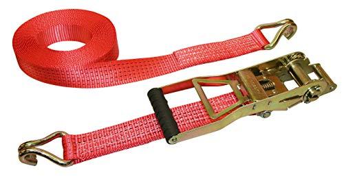 Kerbl 37173long-lever cricchetto di tensionamento cinghia 2pezzi (meccanismo di chiusura e gancio), 8m/50mm ergonomico 2500/5000kg, colore: rosso
