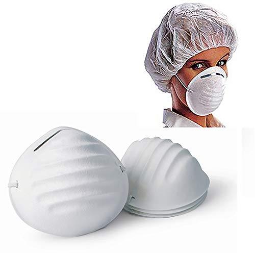 Marannashop® 100 Mascherine Anti Polvere Antipolvere Protezione Mediche Mascherina Igiene Antismog Dentisti Estetista Infezioni Microbi Influenza 3055