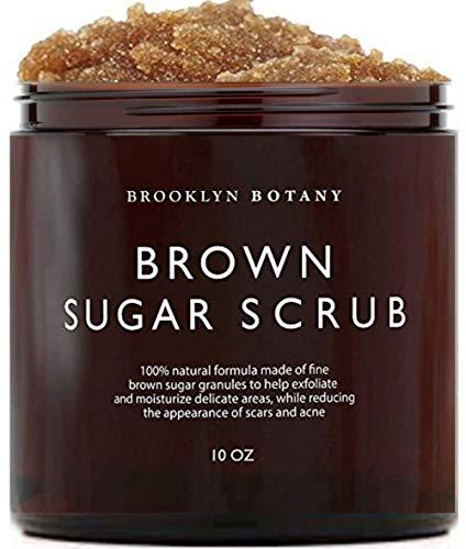Brooklyn Botany Brown Sugar Body Scrub - Great as Face Scrub & Exfoliating Body Scrub for Acne Scars, Stretch Marks, Foot Scrub, Great Gifts For Women - 10 oz
