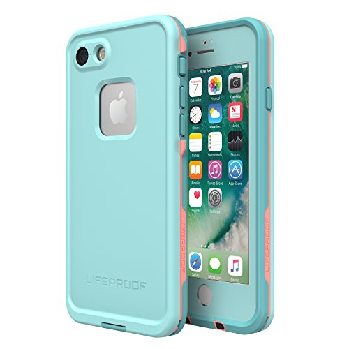 Lifeproof FR Series Waterproof Case for Iphone 8 & 7 - (NOT compatible with iPhone 8 & 7 Plus) - Retail Packaging - Wipeout (Blue Tint/Fusion Coral/Mandalay Bay)