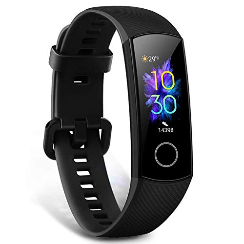 HONOR Band 5 Fitness Trackers Activity Trackers 0.95' AMOLED Color Display Smart Watch 50M Depth Waterproof SpO2 & Real-time Heart-rate Monitor Sleep Monitor Bluetooth 4.2, Black