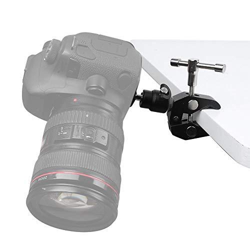 Super Clamp Mount, adattatore doppio morsetto multifunzione in lega di alluminio, attacco a vite 3/8 '' 1/4 '' con testa a sfera piccola per action cam, fotocamere, flash