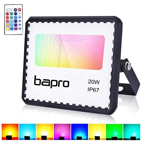 20W Faretto LED RGB Esterno Con Telecomando 16 Colori 4 Modalit Illuminazione Proiettore LED,...