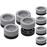 8 Pack Anti Vibration Pads for Washing Machine & Dryer, Refrigerator, Bed, Anti-walk Washer and Dryer Rubber Pads for Noise Dampening Shock Absorbing Prevent Moving Shaking Rubber Feet