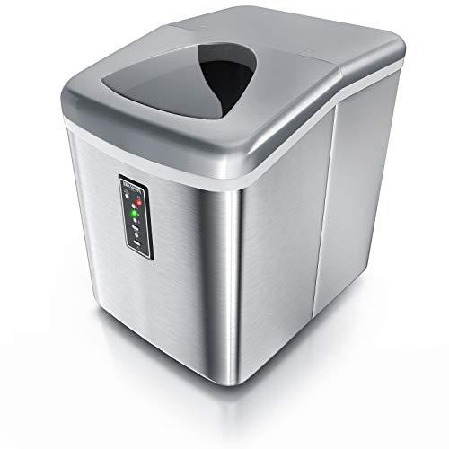 Brandson 7223049449494 - Macchina per cubetti di ghiaccio in acciaio INOX, 150 Watt