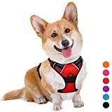 BARKBAY No Pull Dog Harness Large Step in Reflective Dog Harness with Front Clip and Easy Control Handle for Walking Training Running(Red,M)