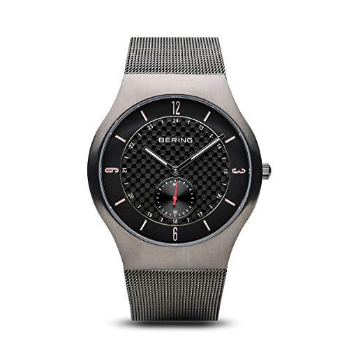 BERING Herren-Armbanduhr Analog Quarz Edelstahl 11940-377