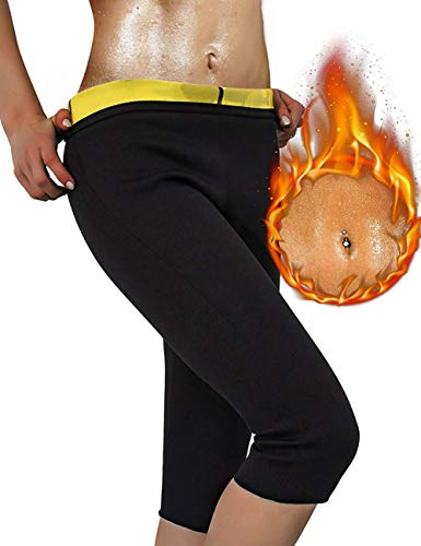 VIRTUAL WORLD Hot Thermo Sweat Shapers Slimming Capri Pant Sauna Waist Cincher Girdle for Weight Loss Perfect Thigh Shaper for Women & Men(X-Large)