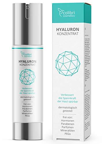 Hyaluronsäure Serum hochdosiert - Testsieger 2020 - natürliche Hyaluron Anti-Aging Creme - 50ml von colibri cosmetics - Naturkosmetik Made in Germany