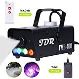 JDR Fog Machine with Controllable lights, Disinfection LED Smoke Machine(Red,Green,Blue) with Wireless and Wired Remote Control for Weddings, Parties or Environmental Disinfection,with Fuse Protection