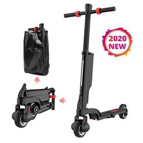 B&H-ERX Scooter Eléctrico Plegable, 3 Modos De Velocidad, Pantalla LCD - Luz LED Neumático Sólido De 5,5 Pulgadas…