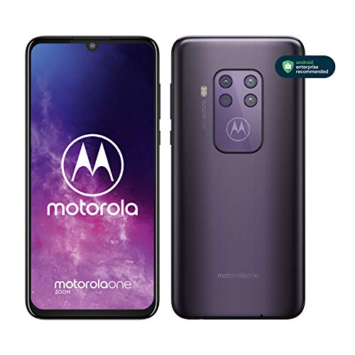 Motorola One Zoom avec Alexa Hands-Free (Ecran FHD+ 6,4 Pouces, 4Go RAM, 128Go ROM, Double Nano SIM, Android 9.0, Quadruple Camera) Violet [Exclusivité Amazon]