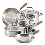 Anolon Advanced Triply Stainless Steel Cookware Pots and Pans Set, 10 Piece