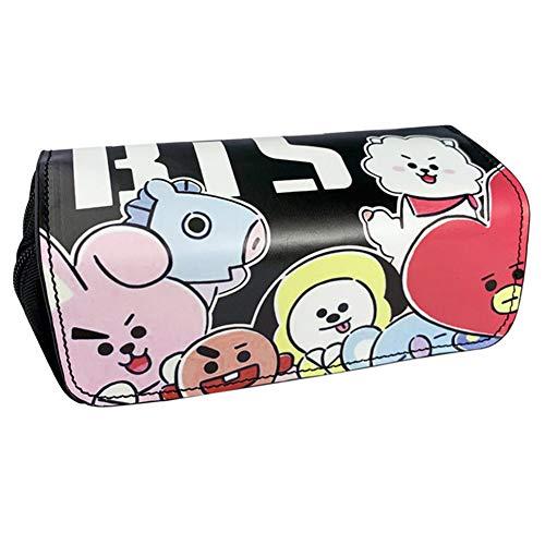 BESLIME Sacchetto della matita BTS - Astuccio Kpop BTS Bangtan Boys per ragazze dei ragazzi Studenti e forniture per ufficio e Borsa per cancelleria per studenti o borse per cosmetici