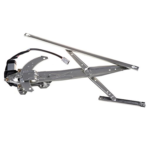 Front Left Drivers Side Power Window Lift Regulator With Motor Assembly Replacement Replacement fit for 1998-2002 Honda Accord 2 Door