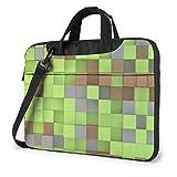 XCNGG Cubes 3D Laptop Bag Maletín a Prueba de Golpes para Hombres, Mujeres, Tableta, Bolso de Mano para Viajes de Negocios, Oficina, 15.6 Pulgadas