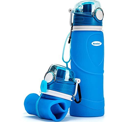 Kemier Bouteilles d'eau Pliables en Silicone de 750 ML, sans BPA,...