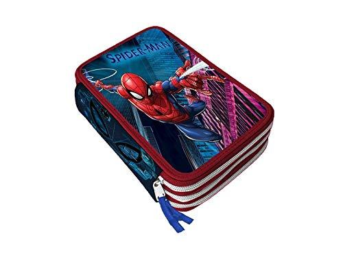 Marvel Spiderman - Astuccio Scuola 3 Cerniere Completo di Cancelleria Giotto Fila