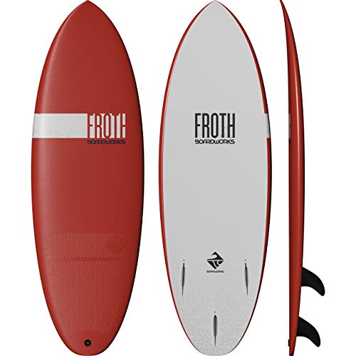Boardworks Froth! | Soft Top Surfboard | 3 Fins | Wake Surfboard | 5' 6' | Papaya