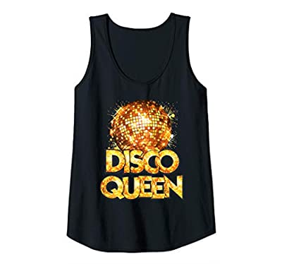 This vintage Disco Queen - 70's Disco Themed Disco Ball Outfit Seventies Costume is perfect for people who love new disco or old school classics in 70s, 80s or 90s - Ideal gift to boogie and night party that is versatile enough to wear year-round too...