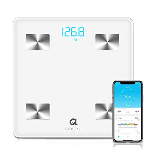 Arboleaf Digital Scale - Smart Scale Wireless Bathroom Weight Scale with iOS, Android APP, Unlimited Users, Auto Recognition Body Status Analyzer