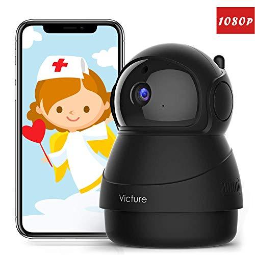 [Forza Italia] Victure FHD 1080P Telecamera di Sorveglianza WiFi,videocamera IP Interno Wireless con Visione Notturna, Notifiche in tempo reale del sensore di movimento
