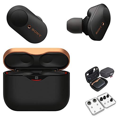 Sony WF-1000XM3 True Wireless Noise-Canceling Earbud Headphones (Black, USA Warranty) with Hardshell...