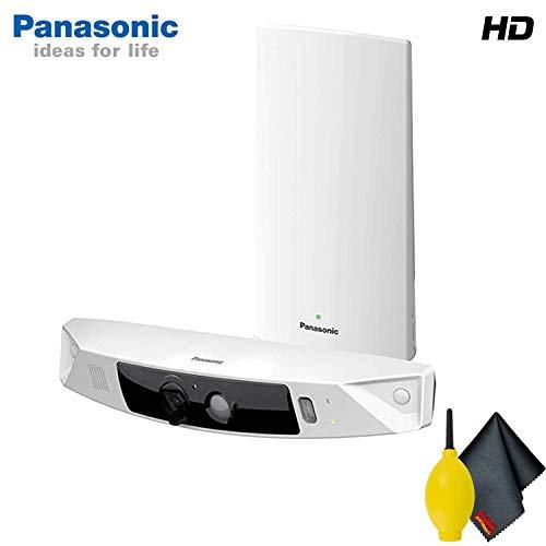 Panasonic KX-HN7001W Smart Home Monitoring HD Camera System Base Accessory Bundle