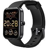 CUBOT Smartwatch Herren, 1.7 Zoll Touchscreen, Alexa Uhr mit Blutsauerstoffmonitor, Schlafmonitor, 5ATM Wasserdicht Sportuhr mit Schrittzähler, für Android/iOS, Schwarz