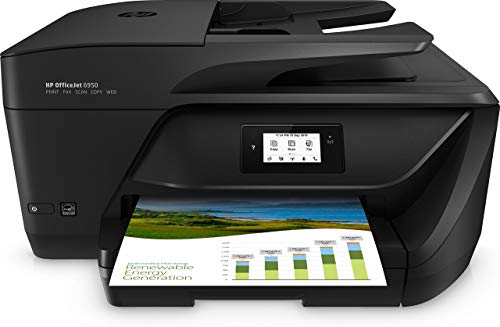 HP OfficeJet 6950 Stampante Multifunzione a Getto di Inchiostro, Stampa, Scannerizza, Fotocopia, Fax, Wi-Fi Direct, 3...