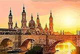 Pintura Del Número Kits,Zaragoza España Puente Sol Pintura Por Números...