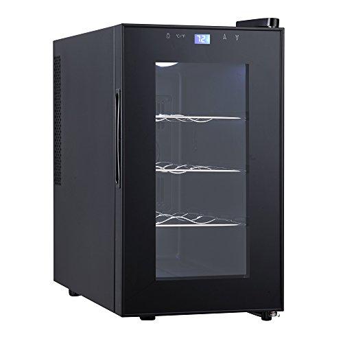 Qlima FWK 1608 Sistema per Il Raffreddamento del Vino, Nero