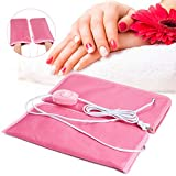 Noverlife Electric Heated Mittens Gloves for Paraffin Hand Wax Treatment, Nail Art Manicure Warmer Mittens, Therapy SPA Mitts for Women Beauty