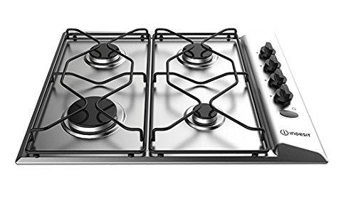 Indesit PAA 642 IX/I Piano cottura a gas, 4 fuochi, Acciaio inossidabile