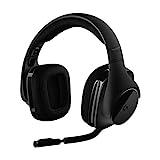 Logitech G533 Auriculares Inalámbricos para Gaming, 7.1 Surround DTS Headphone:X, Transductores 40mm Pro-G, Micrófono, 2,4 GHz Inalámbrico, Batería de 15 Horas, PC/Mac - Negro