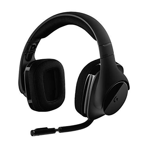 Logitech G533 Casque Gamer Sans Fil, Son Surround 7.1 DTS Headphone:X, Transducteurs Pro-G 40 mm, Micro Anti-Parasite, 2,4 GHz Wireless, Poids Ultra-Léger, Batterie 15h, PC/Mac - Noir