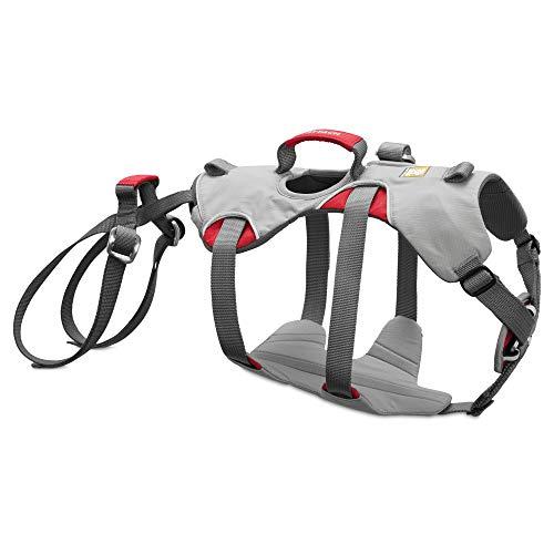 RUFFWEAR - Doubleback, Strength-Rated Belay Dog Harness, Rock Climbing & Backpacking, Strength-Rated to 2,000 lbf/8.9 kN, Cloudburst Gray, Small