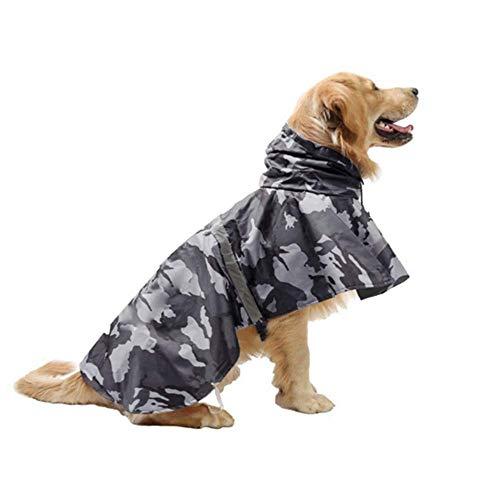 KoKoBin Cappottino Catarifrangente per Cani con Cappuccio Ultraleggero Traspirante Impermeabile per Cani di Media e Grande Taglia(Grigio, L)