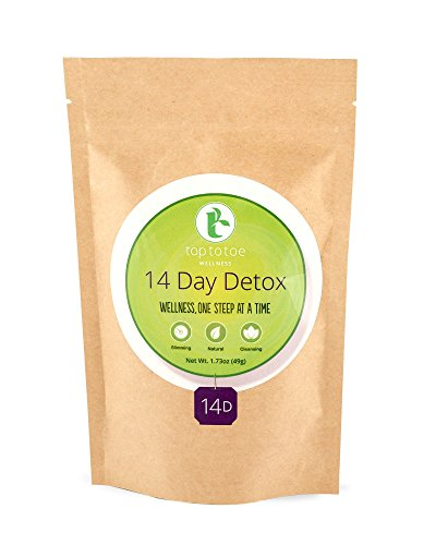 Top to Toe Wellness - 14 Day Detox Tea | Best 100% Natural Weight Loss Tea | Cleanses Digestive System, Promotes Slimming and Reduces Bloating | with Dandelion and Milk Thistle | Loose Leaf 49 Grams 1