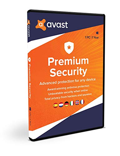 Avast Premium Security para Windows | 2020 | 1 PC | 1 Año
