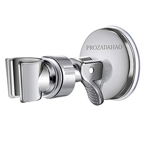 Adjustable Shower Head holder, Bathroom Suction Cup Handheld Shower head Bracket, Removable Handheld Showerhead & Wall Mounted Suction Bracket (Silver-1)