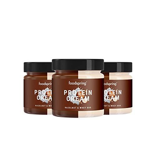 foodspring Crema Proteica, Whey y Avellanas, Pack de 3 x 200