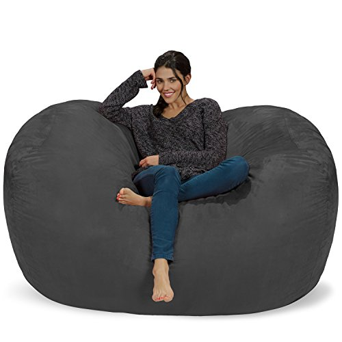 Chill Sack Bean Bag Chair: Huge 6' Memory Foam Furniture Bag...